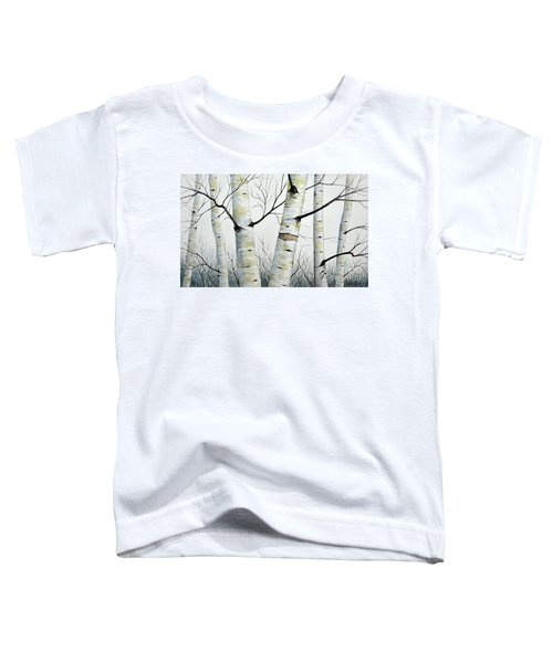 Birch Trees In The Forest In Watercolor Toddler T-Shirt