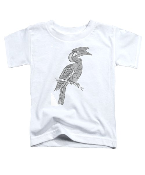 Bird Hornbill Toddler T-Shirt by Neeti Goswami