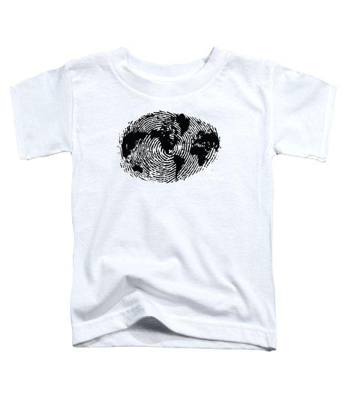 black and white ink print poster One of a Kind Global Fingerprint Toddler T-Shirt