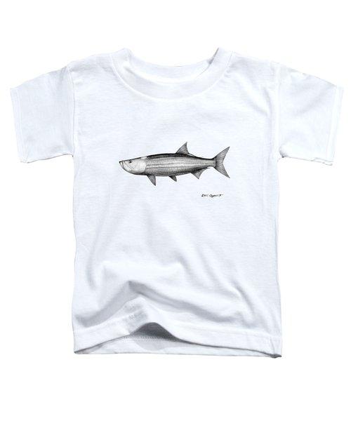 Black And White Tarpon Toddler T-Shirt