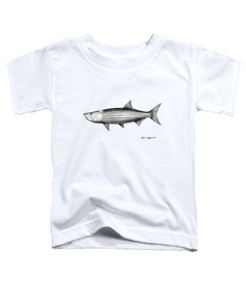 Black And White Tarpon Toddler T-Shirt