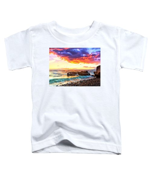 Black Sand Sunset Toddler T-Shirt