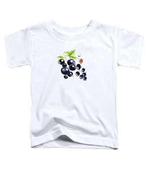Toddler T-Shirt featuring the painting Blackcurrant Berries  by Irina Sztukowski