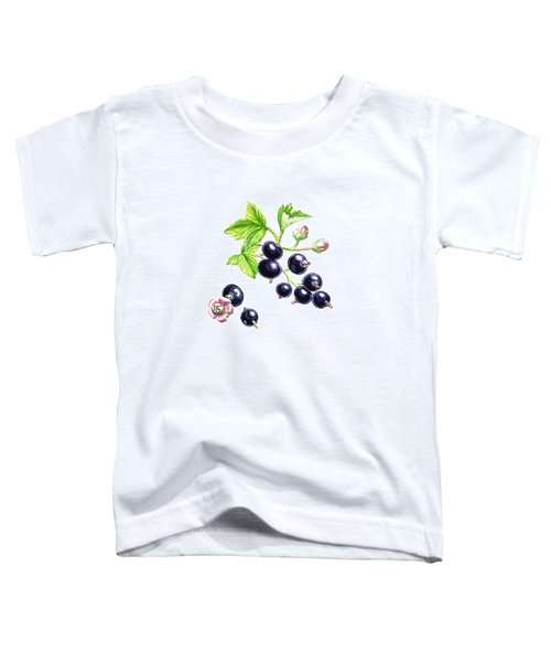 Toddler T-Shirt featuring the painting Blackcurrant Botanical Study by Irina Sztukowski