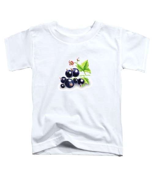 Toddler T-Shirt featuring the painting Blackcurrant Still Life by Irina Sztukowski