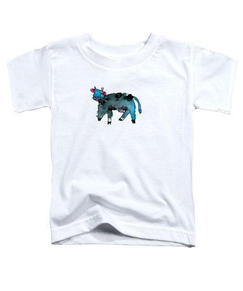 Blue Cow Toddler T-Shirt