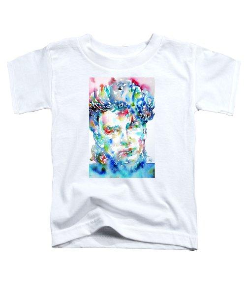 Bono Watercolor Portrait.1 Toddler T-Shirt by Fabrizio Cassetta