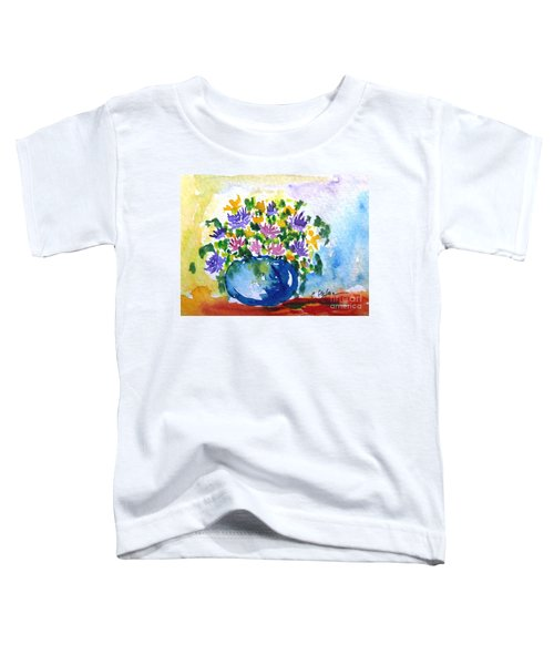 Bouquet Of Flowers In A Vase Toddler T-Shirt