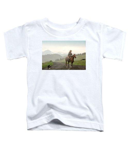 Braving The Rain Toddler T-Shirt