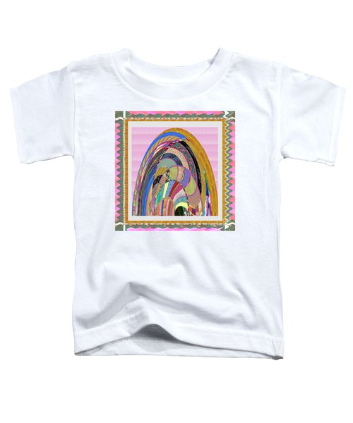 Bride In Layers Of Veils Accidental Discovery From Graphic Abstracts Made From Crystal Healing Stone Toddler T-Shirt by Navin Joshi