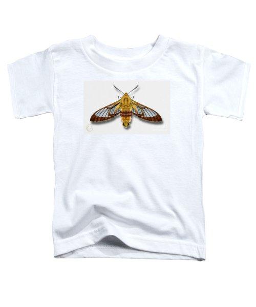 Broad-bordered Bee Hawk Moth Butterfly - Hemaris Fuciformis Naturalistic Painting -nettersheim Eifel Toddler T-Shirt