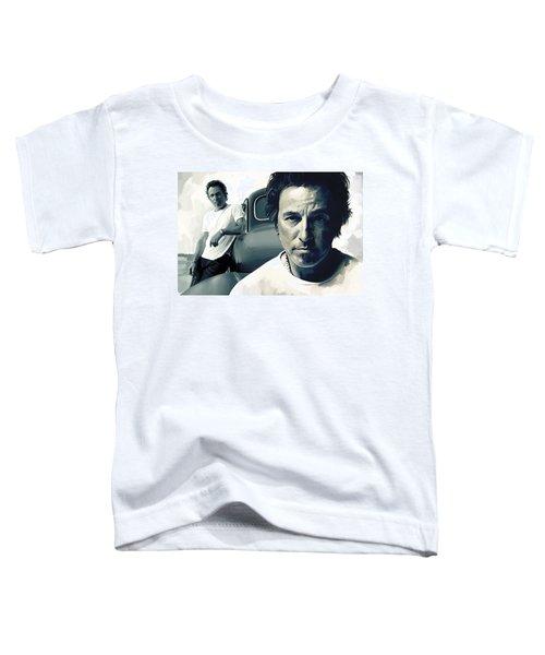 Bruce Springsteen The Boss Artwork 1 Toddler T-Shirt by Sheraz A