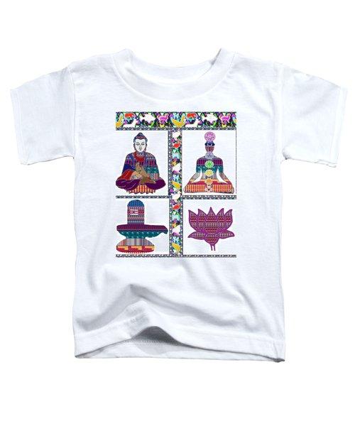 Buddha Yoga Chakra Lotus Shivalinga Meditation Navin Joshi Rights Managed Images Graphic Design Is A Toddler T-Shirt by Navin Joshi