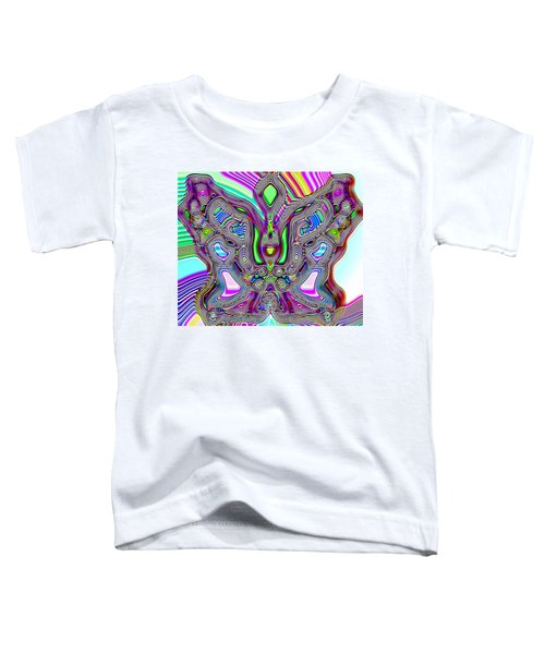 Toddler T-Shirt featuring the digital art Butterfly Groove by Susan Kinney
