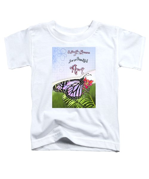 Toddler T-Shirt featuring the painting Butterfly Kisses by Susan Kinney