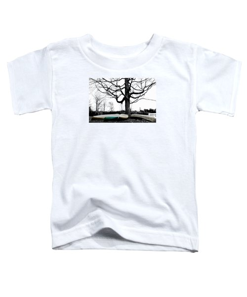 Canoes In Winter Toddler T-Shirt
