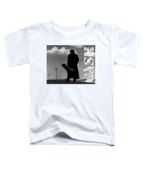 Toddler T-Shirt featuring the mixed media Johnny Cash by Marvin Blaine