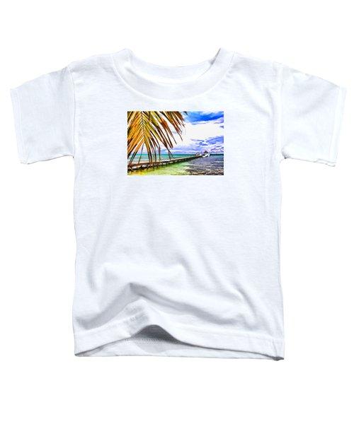 Caye Caulker Pier Toddler T-Shirt