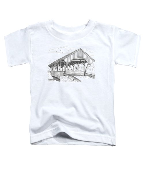 Chamberin Mill Covered Bridge Toddler T-Shirt