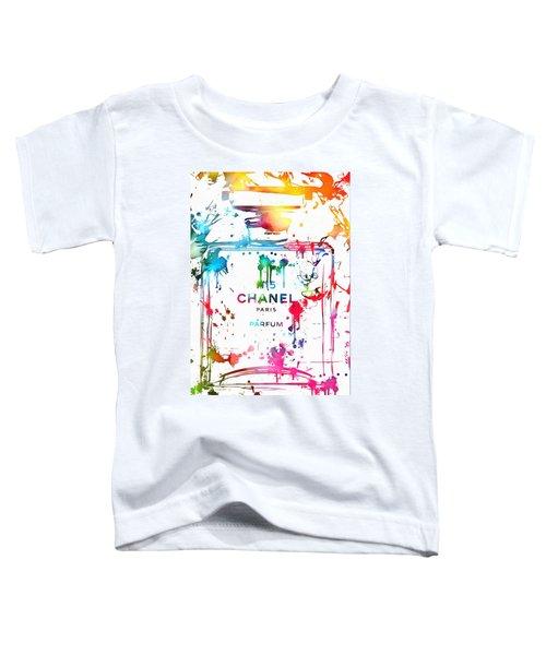 Chanel Number Five Paint Splatter Toddler T-Shirt