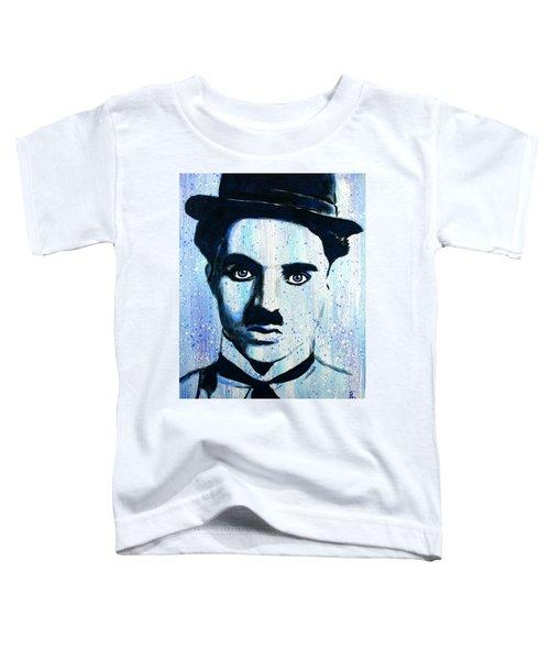 Charlie Chaplin Little Tramp Portrait Toddler T-Shirt