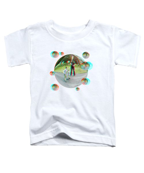 Chasing Bubbles - Red/cyan Filtered 3d Glasses Required Toddler T-Shirt