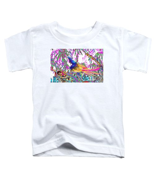 Cheerful Parrot. Colorful Art Collection. Promotion - August 2015 Toddler T-Shirt