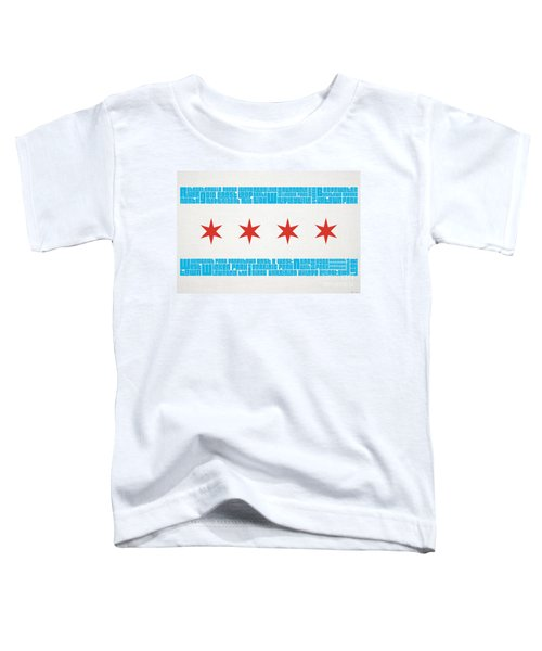 Chicago Flag Neighborhoods Toddler T-Shirt by Mike Maher