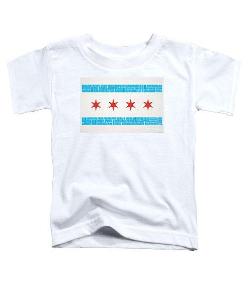 Chicago Flag Neighborhoods Toddler T-Shirt