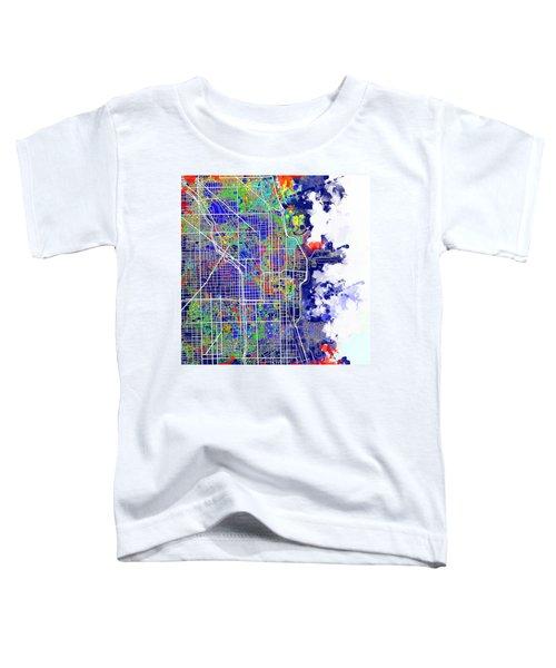Chicago Map Color Splash Toddler T-Shirt