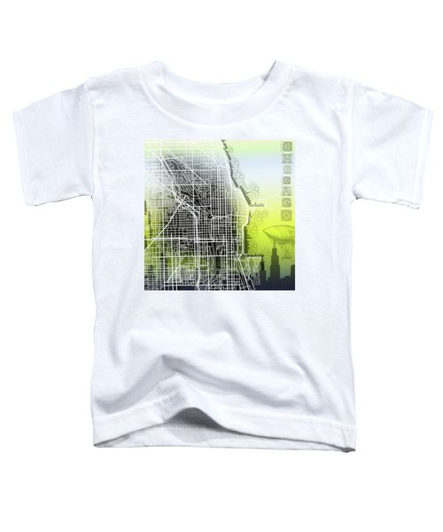 Chicago Map Gradient Toddler T-Shirt