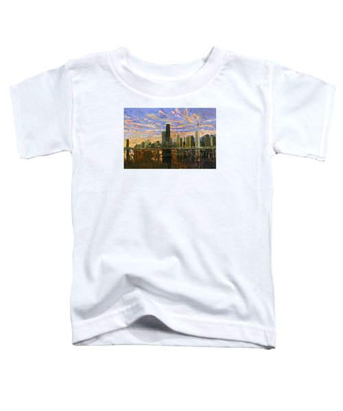Chicago Toddler T-Shirt by Mike Rabe