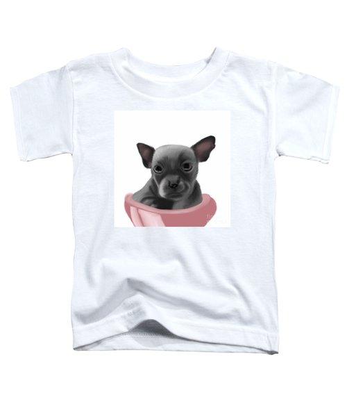 Chihauhau In A Bowl Toddler T-Shirt