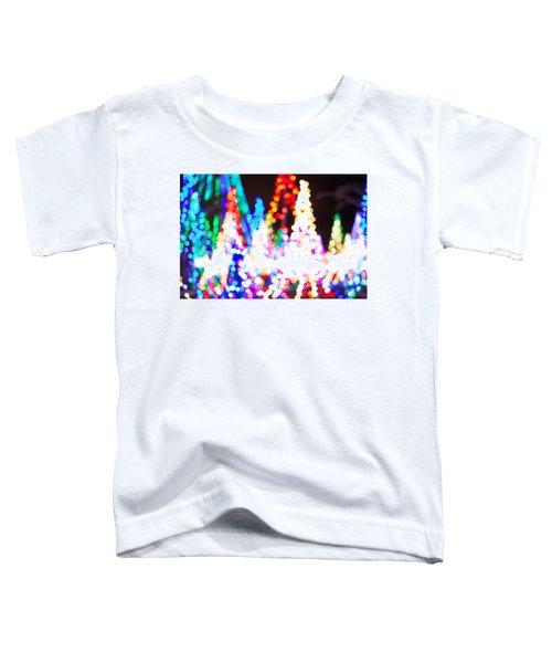 Christmas Lights Abstract Toddler T-Shirt