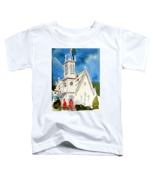 Church With Jet Contrail Toddler T-Shirt