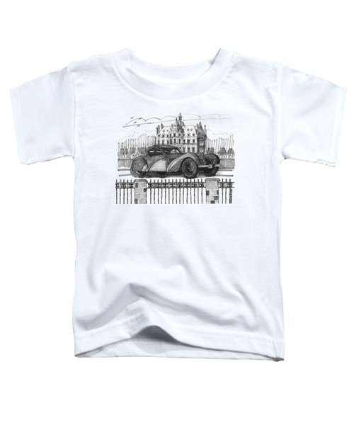 Classic Auto With Chateau Toddler T-Shirt