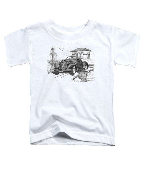 Classic Auto With Formal Gardens Toddler T-Shirt