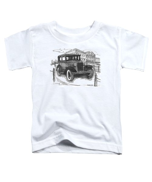 Classic Auto With Mills Mansion Toddler T-Shirt