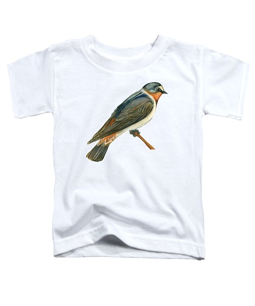 Cliff Swallow  Toddler T-Shirt by Anonymous