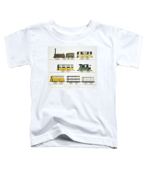 Coaches Employed On The Railway, Plate Toddler T-Shirt