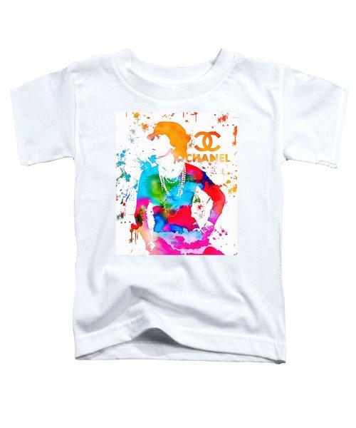 Coco Chanel Paint Splatter Toddler T-Shirt