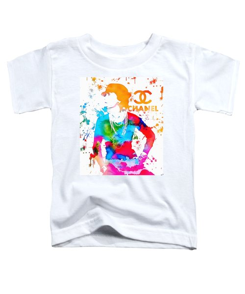 Coco Chanel Paint Splatter Toddler T-Shirt
