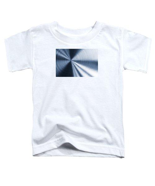 Cold Blue Metallic Texture Toddler T-Shirt