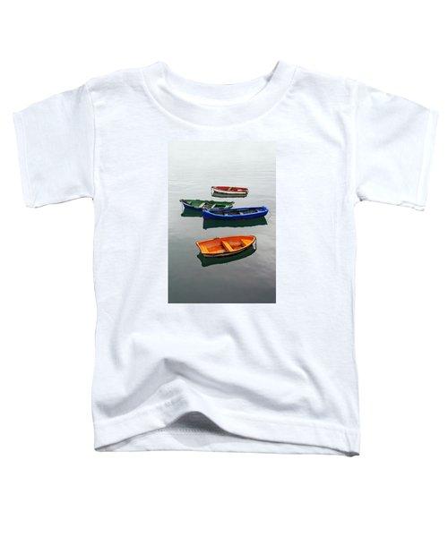 colorful boats on Santurtzi Toddler T-Shirt