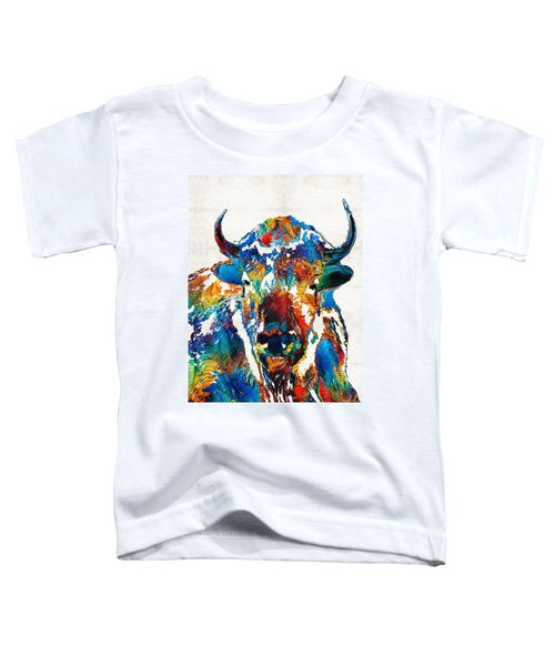 Colorful Buffalo Art - Sacred - By Sharon Cummings Toddler T-Shirt