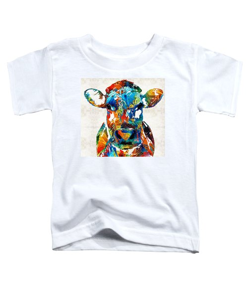 Colorful Cow Art - Mootown - By Sharon Cummings Toddler T-Shirt