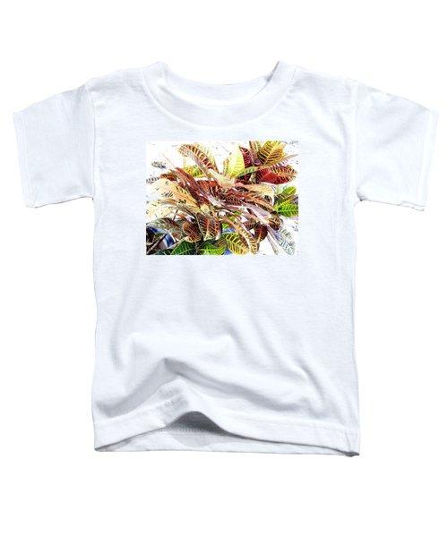Colorful - Croton - Plant Toddler T-Shirt