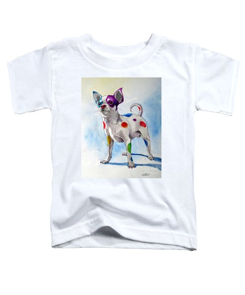 Colorful Dalmatian Chihuahua Toddler T-Shirt