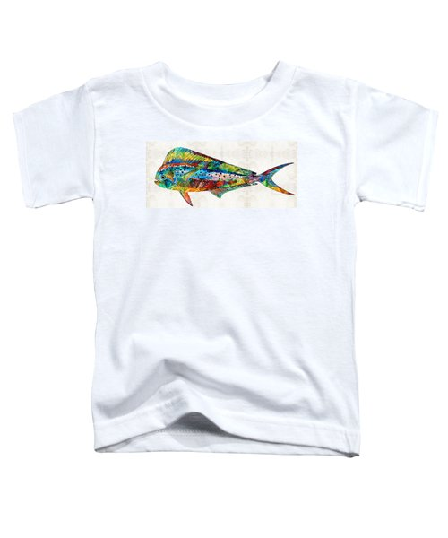 Colorful Dolphin Fish By Sharon Cummings Toddler T-Shirt