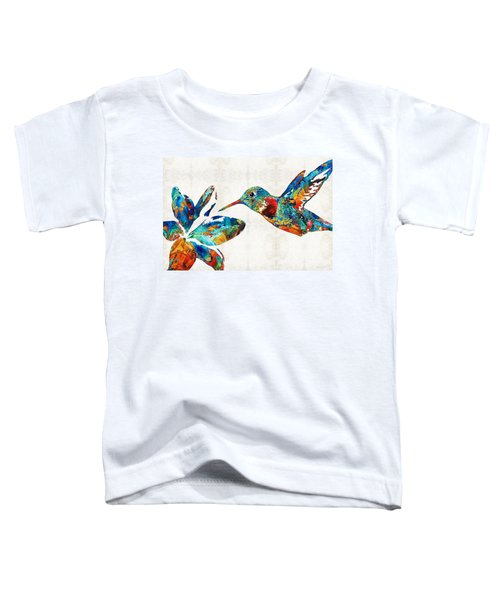 Colorful Hummingbird Art By Sharon Cummings Toddler T-Shirt